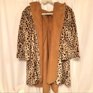 bebe addiction cheetah fur coat